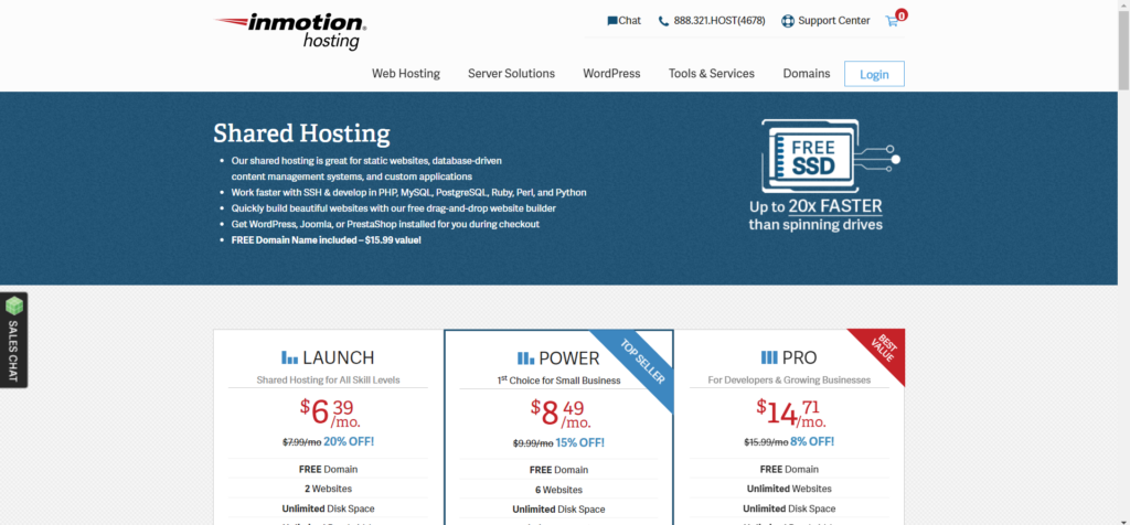 InMotion best web hosting