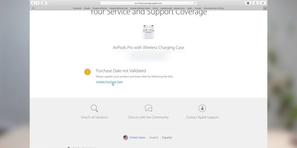 Claim warranty of airpods