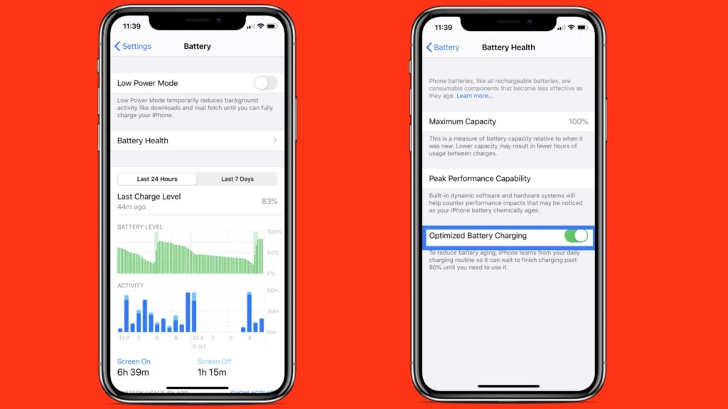 Improve battery health of iPhone