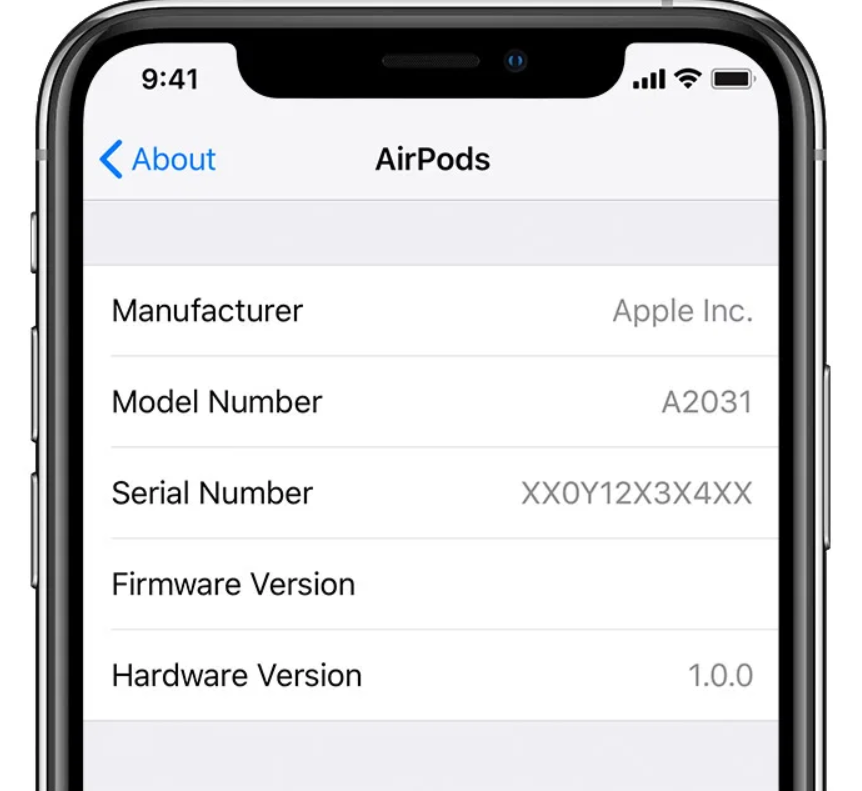 airpods serial number check